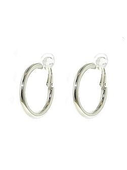 Lilli & Koe Rhodium hoop clip earrings