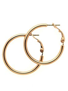 Melissa Odabash Rose gold small hoop earrings