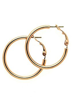 Rose gold small hoop earrings