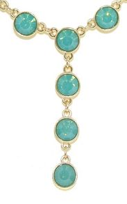 Gold & pacific green opal y necklace