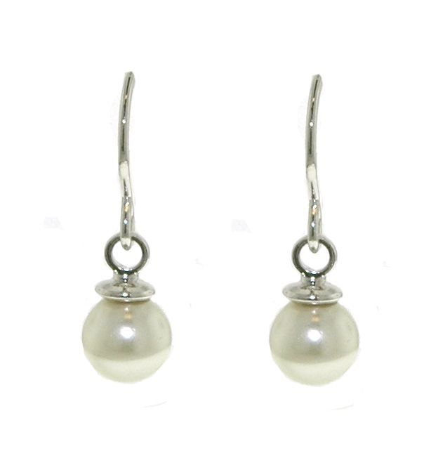 lilli and koe faux pearl hook earrings 6mm
