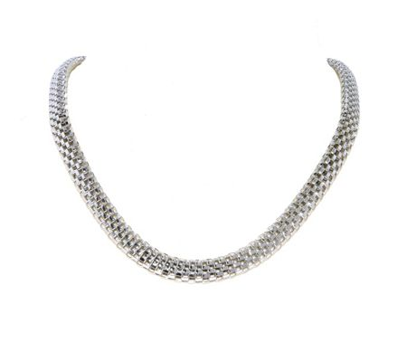 Lilli & Koe Rhodium Mesh Link Necklace