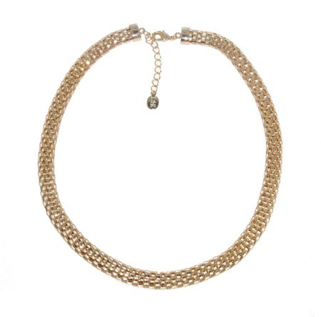 Lilli & Koe Gold open mesh necklace