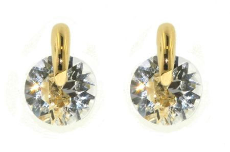 Lilli & Koe Gold tension set cubic zirconia earrings