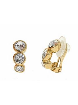 Gold graduated crystals earrings
