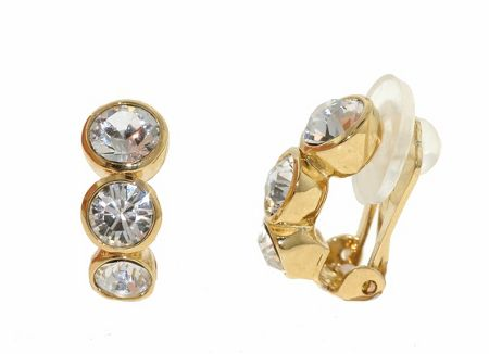 Lilli & Koe Gold graduated crystals earrings