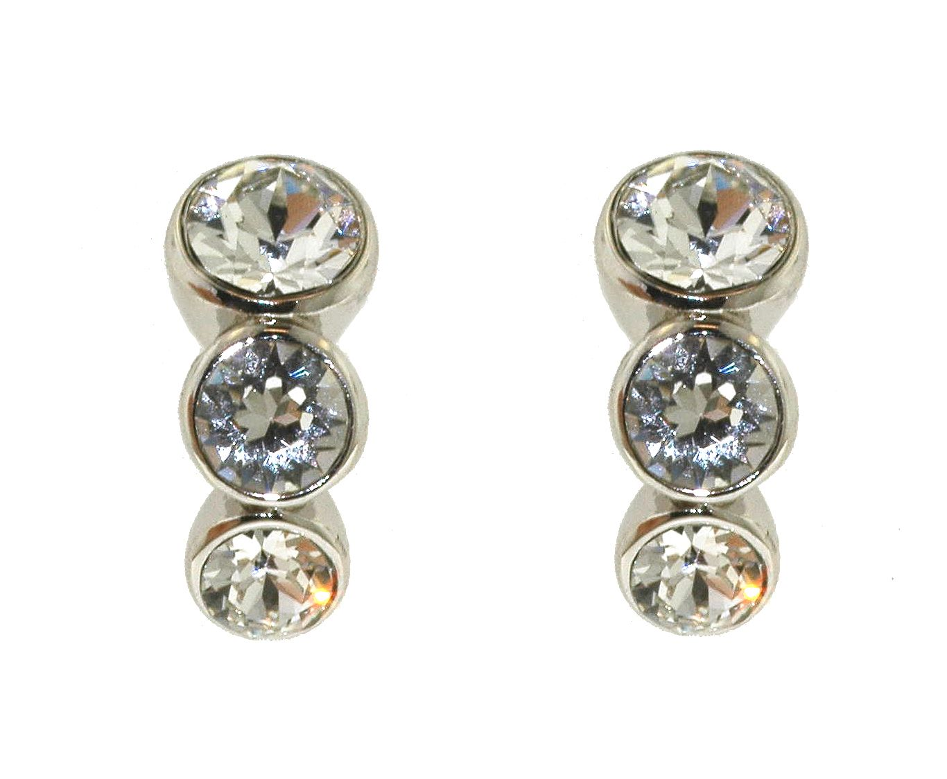lilli and koe rhodium graduated crystal earrings