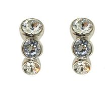Lilli & Koe Rhodium graduated crystal earrings