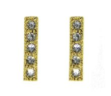 Gold Stick Crystal Earrings