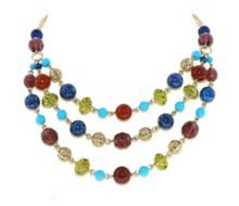 Multi-Colour Beaded Layered Necklace