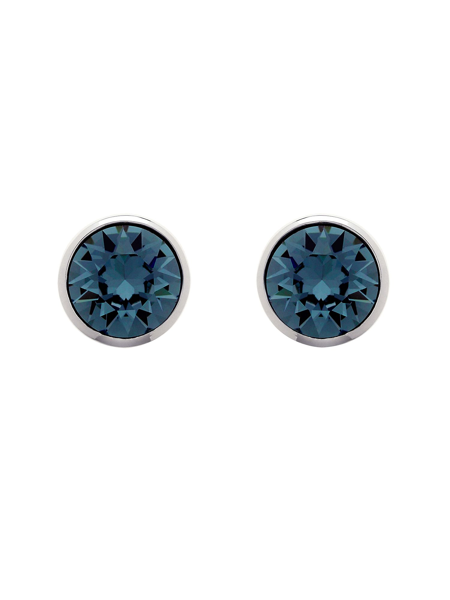 melissa odabash rhodium indian sapphire crystal earrings