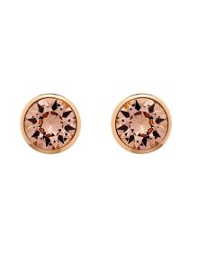 Melissa Odabash Rose gold vintage rose crystal earrings