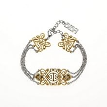 Gold & rhodium 3-row bracelet