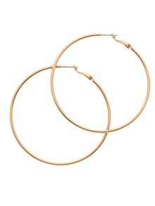 Melissa Odabash Rose gold large hoop earrings