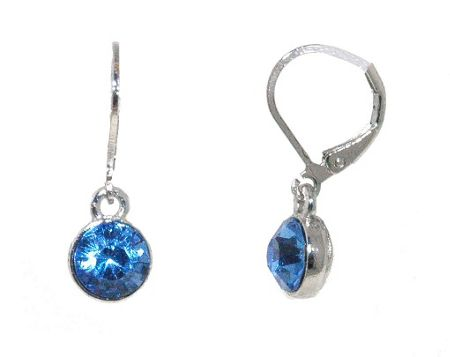 1928 Light sapphire drop earrings