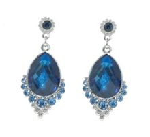 Light sapphire & montana drop earrings