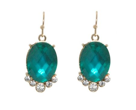 1928 Gold erinite faceted oval earrings