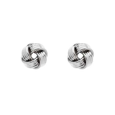 Monet Silver ribbon knot stud earrings