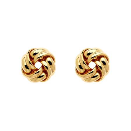Monet Gold knot stud earrings