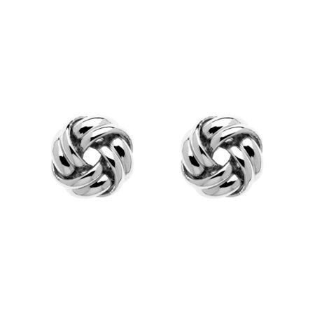 Monet Silver knot stud earrings