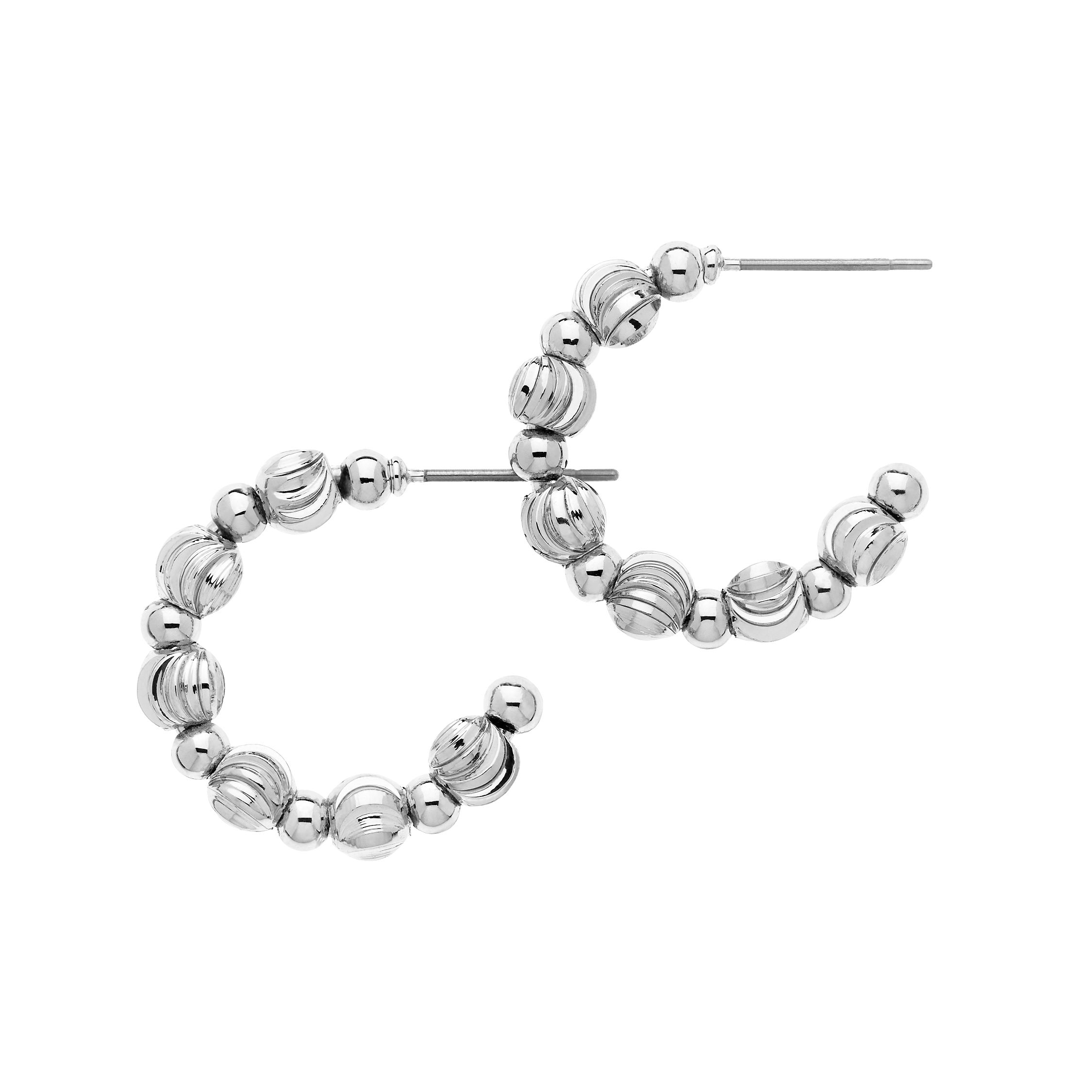 monet silver ball hoop earrings