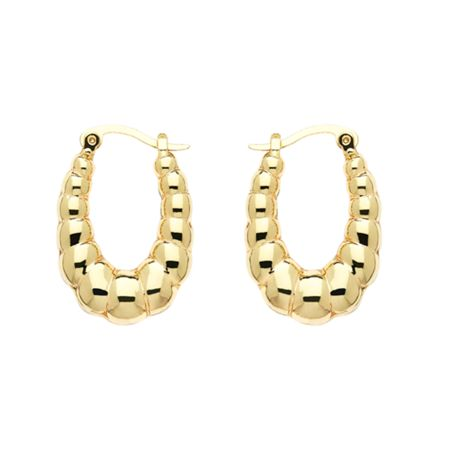 Monet Gold creole hoop earrings