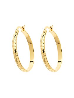 Gold stripe hoop earrings