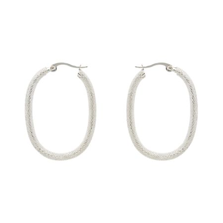 Monet Silver lattice hoop earrings