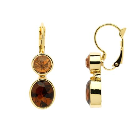 Monet Gold topaz & champagne drop earrings