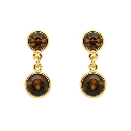 Monet Gold topaz crystal drop earrings