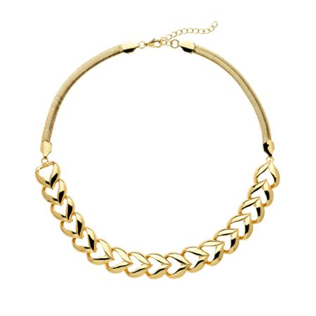 Monet Gold polished heart collar