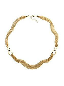Gold multi chain long necklace