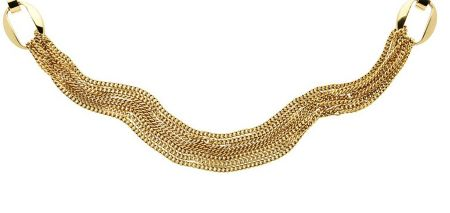 Monet Gold multi chain long necklace