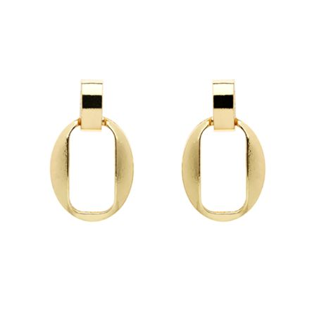 Monet Gold open oval earrings