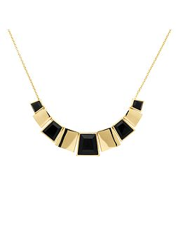 Gold & jet statement deco collar