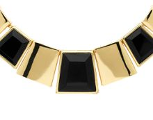 Monet Gold & jet statement deco collar