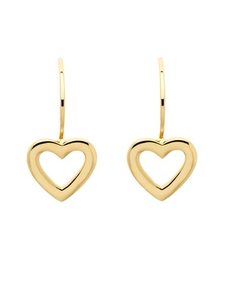 Melissa Odabash Gold hook heart earrings