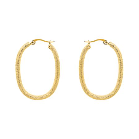 Monet Gold lattice hoop earrings