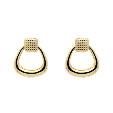 Monet Gold textured battente earrings