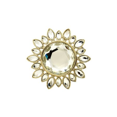 Monet Gold and crystal sunburst brooch