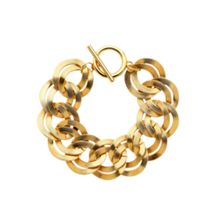 Monet Gold double textured links bracelet