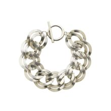 Monet Silver double textured links bracelet