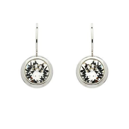 Lilli & Koe Rhodium crystal hook earrings