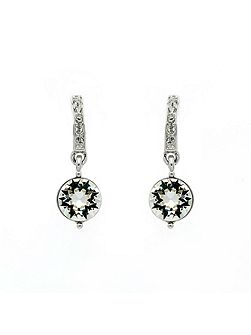Rhodium crystal drop earrings