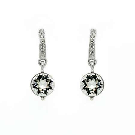 Lilli & Koe Rhodium crystal drop earrings