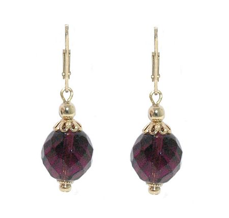 1928 Faceted Bead Drop Earrings
