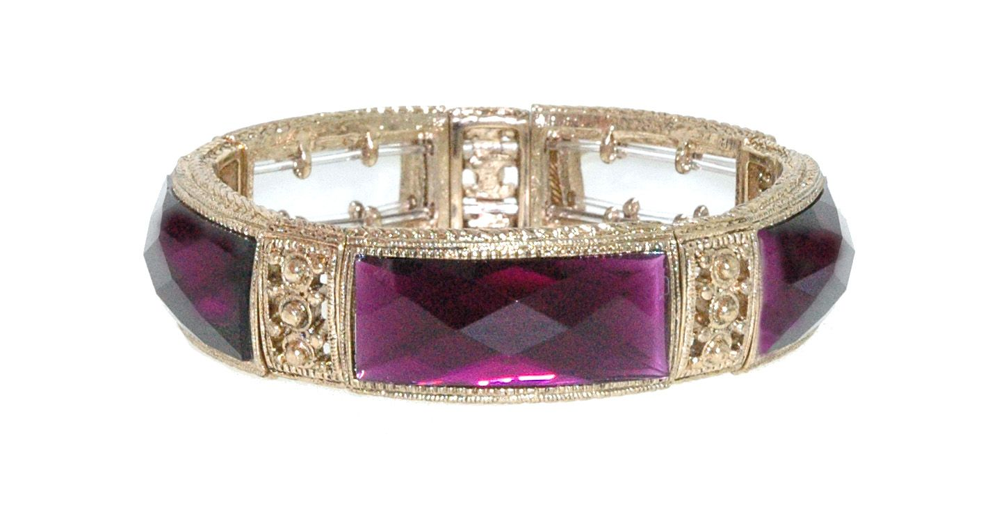 1928 Faceted Radiant Bangle, N/A
