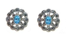 1928 Marcasite Round Earrings