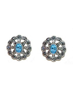 Marcasite Round Earrings