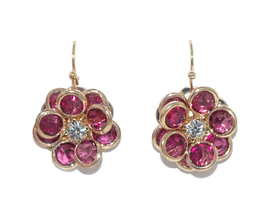 1928 Flower Earrings, N/A
